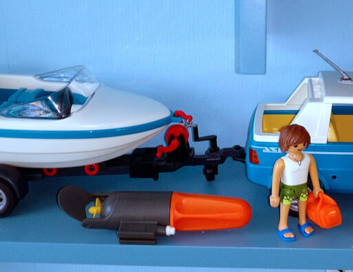 Playmobil® Auto mit Motorboot